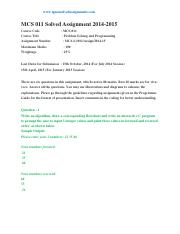 MCS-011 Solved assignment Jul-Jan 2014-15.pdf