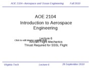Lecture 6-Aircraft Mechanics and Thrust Required for SSL