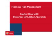 W5 Lecture Market Risk VaR_Historical Simulation Approach