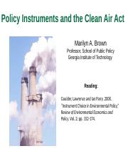 6701_Lecture_2b_Clean Air Act_2016.pptx