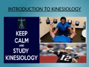 1. Introduction to Kinesiology v2