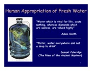 Lecture 14 - Human Appropriation of Fresh Water