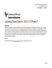 Learning Team Charter