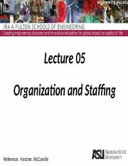 Lecture 05dm Organization and Staffing(1)