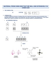 M2 - Review Material from Introduction to Organic Chemistry