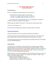 BSC1020_Spring2014_EXAM 1 Study Guide-2