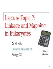 Topic 7 - Linkage and Mapping.pptx