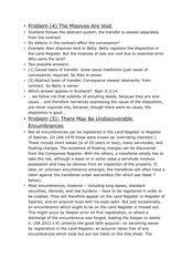 Property Law - Seminar Notes - Problems with Transfer (4)(5)(6)