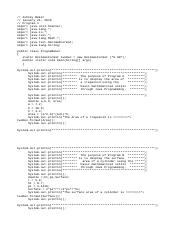 prgEx16 java - /Thomas Roberson package ch02PrgExs import