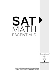 SAT Math Essentials Practice Workbook