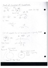 Class Notes Proof of Culvature of Spacetime