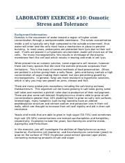 Lab 10 osmotic stress and tolerance
