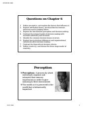 Wk6-Perception and Decision Making (Ch6)