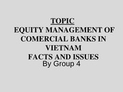 BANKING Topic 5 Capital