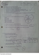 Probability Exam Review