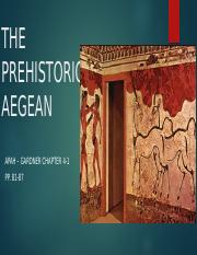 APAH - Chapter 4-1 Lecture Prehistoric Aegean