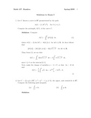 Exam 3 Solution Fall 2009 on Vector Calculus