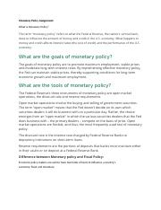 Monetary Policy Assignment.docx