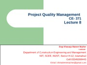Project Quality Management (Lec-8)