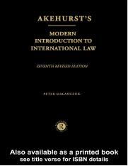Akehurts Modern Introduction to International Law