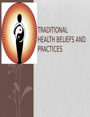 Traditional Healthcare Beliefs and Practices