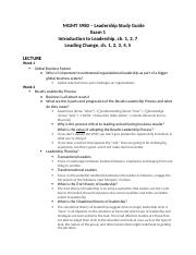 MGMT 5980 - Lessons in Leadership- Exam 1 study guide.docx