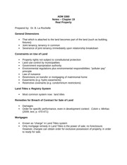 ADM3360 - Bruce La Rochelle - Summer 2014 - Lecture notes on real property