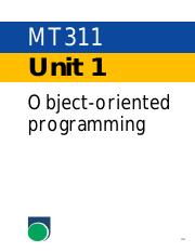 mt311_u1 Object-oriented programming.pdf