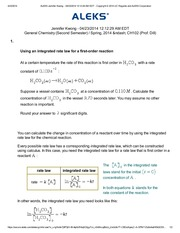 Using an integrated rate law for a first order reaction 2