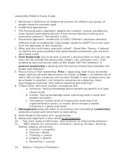 Leadership Midterm Study Guide