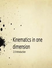 EFT1103-Kinematics in One Dimension