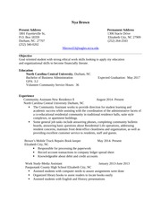 Professional Development Sample Resume