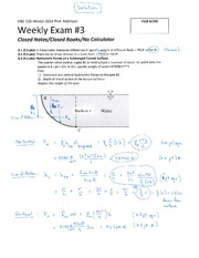 ENG 103 Winter 2014 SKR Weekly Exam 3 Solution