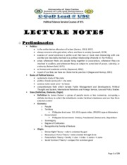 Political-Science-LECTURE-NOTES