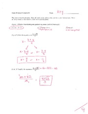 Math 125 Exam 3 Key On Intermediate Algebra