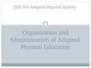 Student Project:  363OrganizationAdministration