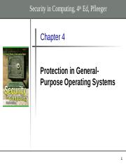 Chapter 4 - Protection in General-Purpose OS