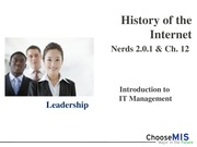 Class 17 and 18 - History of the Internet