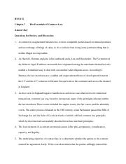BUS 115 Chapter 7 The Essentials of Contract Law Answer Key 14th edition.docx