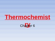 Thermochemistry part 1