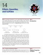 Ch 14 - Ethers, Epoxides, and Sulfides