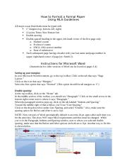 How to Format a Formal Paper Using MLA Guidelines 1302.doc