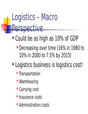 2 LSCM Role of Logistics CC