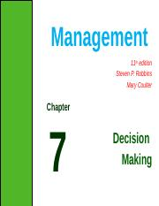 ch 7- Decision making