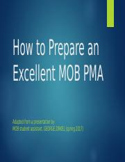 How to Prepare an Excellent PMA.pptx