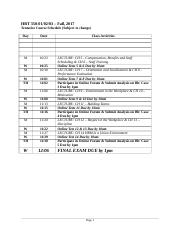 Tentative Course  Schedule - HRT 350-01-02-03 F17.docx