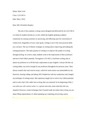cover letter final revised - Name Vishesh Vaid Class LLD 100A Date ...