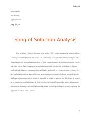analytical essay SOng of SOlomon.docx