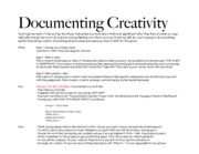 Documenting Creativity Explanation