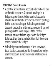 BAC 100 TOPIC NINE CONTROL ACCOUNT.ppt